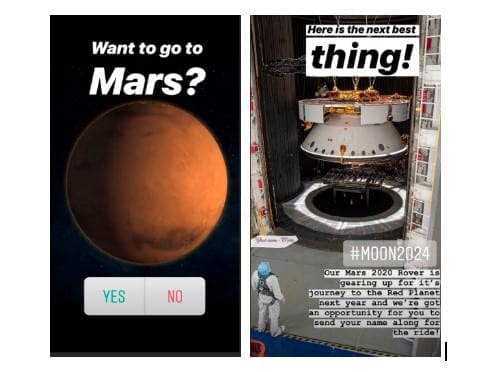 Instagram Stories - NASA