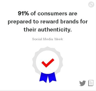Consumers want to trust brands