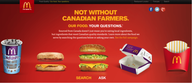 McDonald's needs no introduction to content marketing